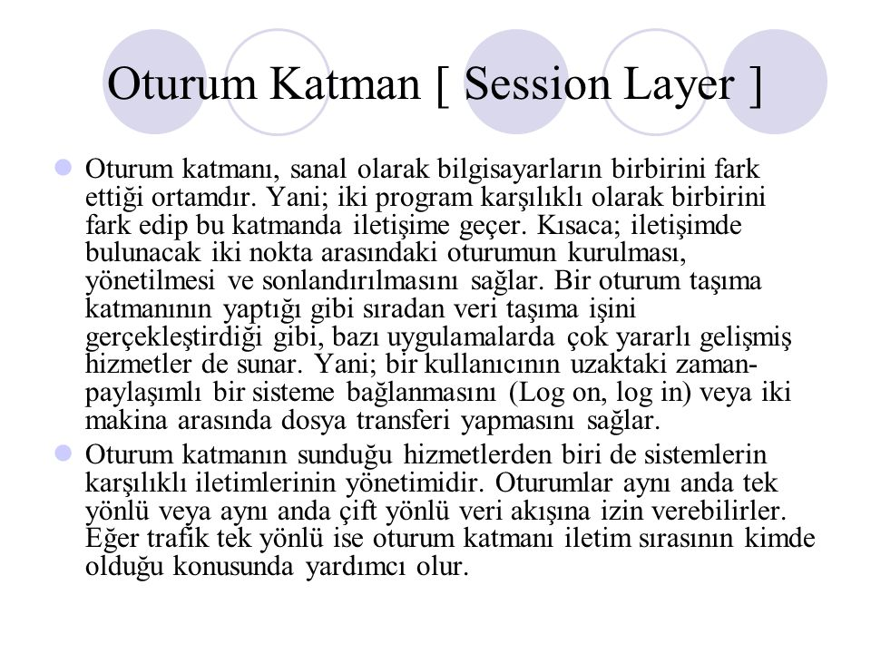 Oturum Katman [ Session Layer ]